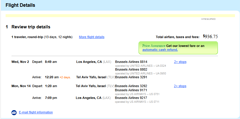 The Flight Deal Brussels Airline Miami Los Angeles Tel Aviv - Flights to israel from lax