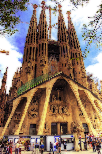 Sagrada Familia in Barcelona, Spain. Photo: Wolfgang Staudt, used under Creative Commons License (By 2.0)
