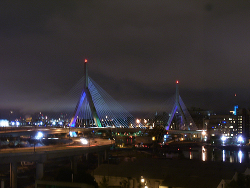 Leonard P. Zakim Bunker Hill Memorial Bridge Photo: Mistermuckle, used under Creative Commons License (By 2.0)