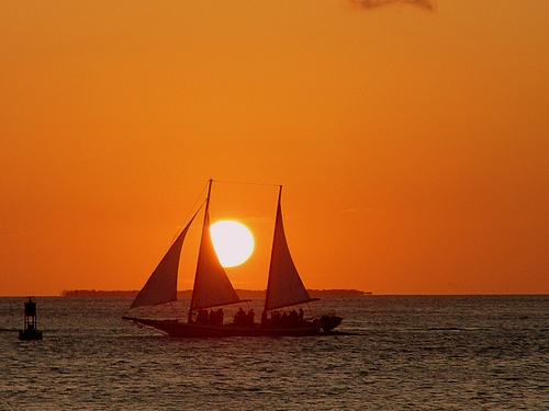 Sunset at Key West. Photo: Serge Melki, used under Creative Commons License (By 2.0)