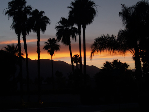 Palm Springs at Sunset. Photo: bossco, used under Creative Commons License (By 2.0)