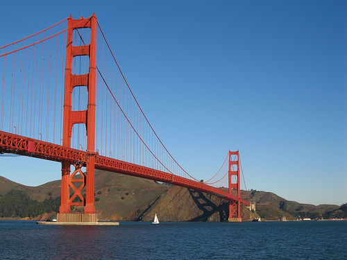 View of Golden Gate Bridge. Photo: Salim Virji, used under Creative Commons License (By 2.0)