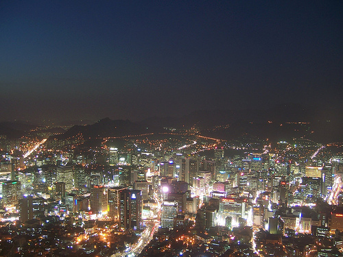 View of Seoul from Seoul Tower Photo: zukunftsalick, used under Creative Commons License (By 2.0)