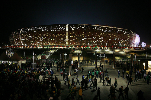 Soccer City Stadium - Johannesburg. Photo: babasteve, used under Creative Commons License (By 2.0)