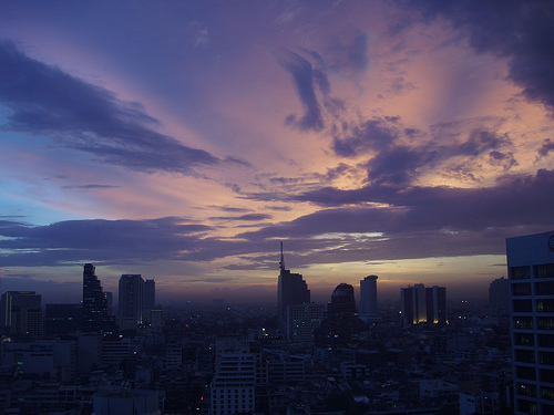 Bangkok Skyline at Sunset. Photo: tuija2005, used under Creative Commons License (By 2.0)