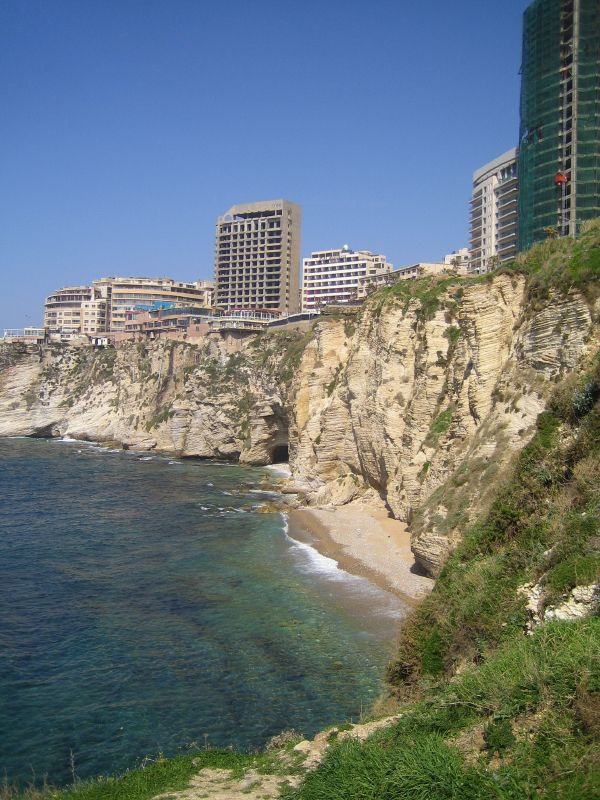 Pigeon Rocks, West Beirut. Photo: austinevan, used under Creative Commons License (By 2.0)
