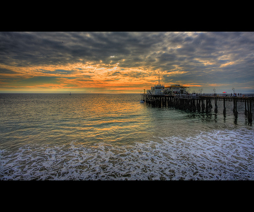 Santa Monica Pier, Los Angeles. Photo: Martinliao, used under Creative Commons License (By 2.0)