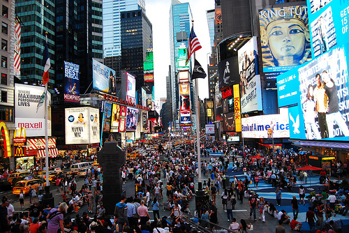 Time Square, New York Photo: Beraldo Leal, used under Creative Commons License (By 2.0)