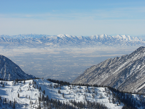 View of Salt Lake City from Snowbird. Photo: vxla, used under Creative Commons License (By 2.0)