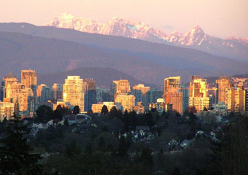 Vancouver at Sunset. Photo: Qole Pejorian, used under Creative Commons License (By 2.0)