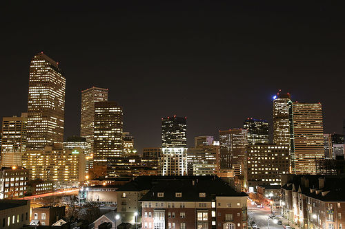 Denver Nightscape Photo: dagpeak, used under Creative Commons License (By 2.0)