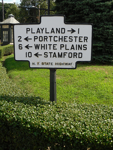 Westchest County Road Signs Photo: Dougtone, used under Creative Commons License (By 2.0)