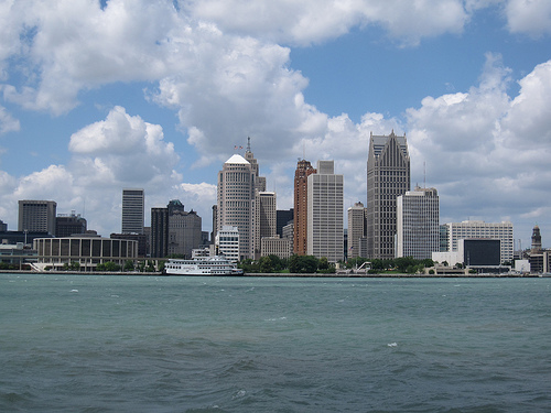 Detroit Skyline. Photo: Bernt Rostad, used under Creative Commons License (By 2.0)