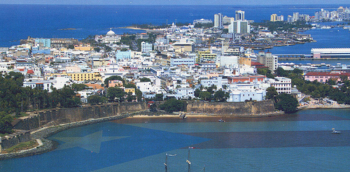 San Juan, Puerto Rico from the Air Photo: roger4336, used under Creative Commons License (By 2.0)