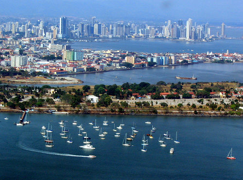 Panama City, Panama from the Sky Photo: dsasso, used under Creative Commons License (By 2.0)