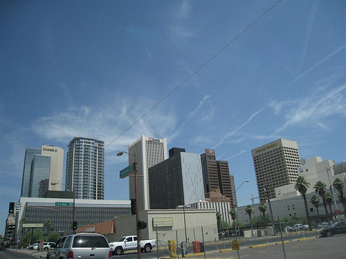Phoenix, Arizona Skyline. - Photo: Dru Bloomfield, used under Creative Commons License (By 2.0)