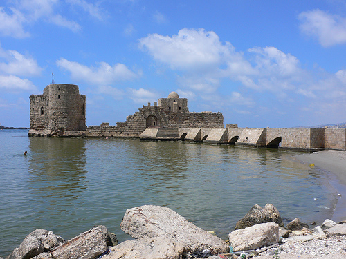 The Castle at Sidon, Lebanon. Photo: heatheronhertravels, used under Creative Commons License (By 2.0)