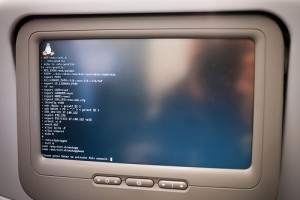 Inflight Entertainment System Being Rebooted - Photo: neekoh.fi, used under Creative Commons License (By 2.0)
