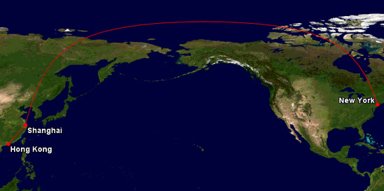 The Flight Deal How To Visit Beijing Or Shanghai For Up To - Earth map us china