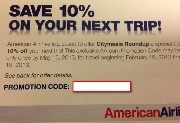 Giveaway Five 10 Off American Airlines Discount Codes