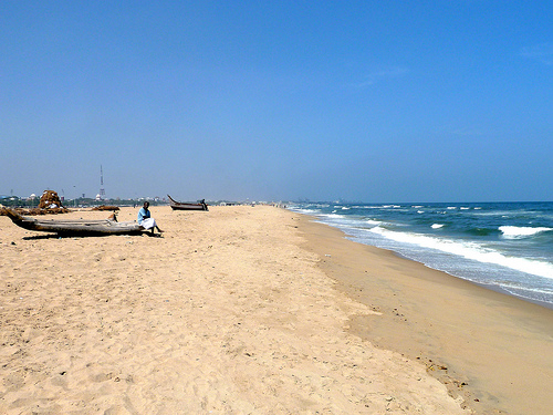 Seashore, Chennai, India - Photo: sjdunphy, used under Creative Commons License (By 2.0)