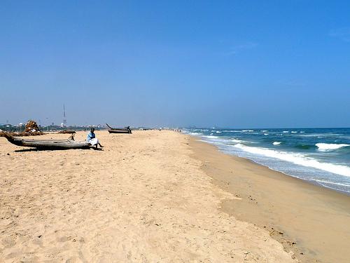 Seashore, Chennai, India - Photo: sjdunphy, used under Creative Commons License (By 2.0)