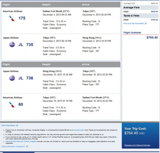 Hong Kong as low as $765!!