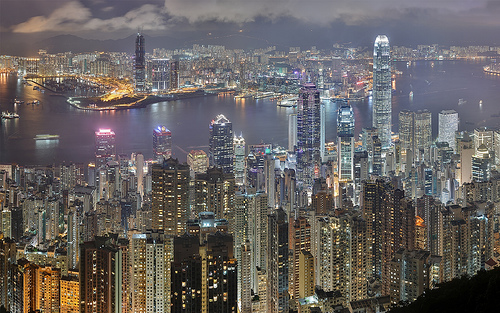 Hong Kong at Night from Victoria Peak Photo:Trodel, used under Creative Commons License (By 2.0)