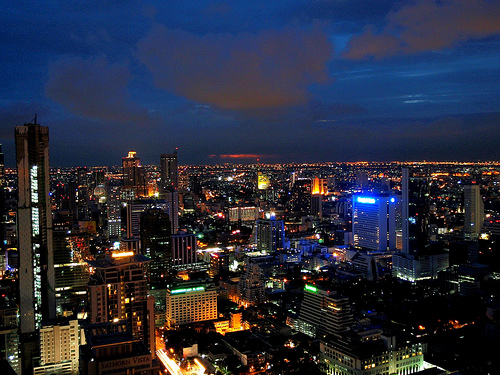 View of Bangkok from Moon Bar, Banyan Tree Hotel - Photo: Eric Pesik and Deanna Pesik, used under Creative Commons License (By 2.0)