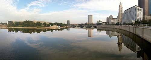 Columbus, Ohio by Scioto River. Photo: Howard TJ, used under Creative Commons License (By 2.0)