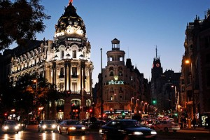 Gran Via, Madrid, Spain - Photo: Dimitry B, used under Creative Commons License (By 2.0)