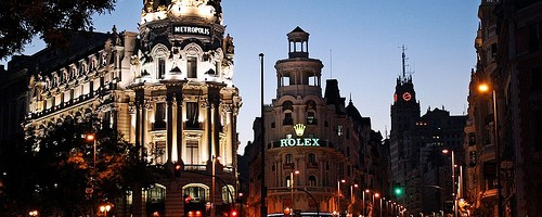 Gran Via, Madrid, Spain - Photo: Dimitry B, used under Creative Commons License (By 2.0)