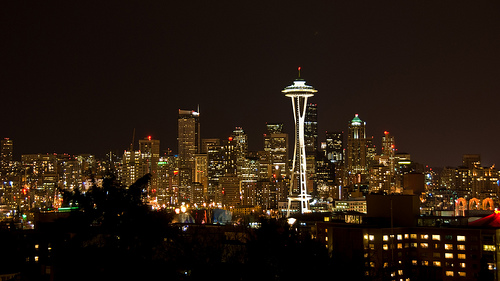 Seattle Skyline at Night Photo: bryce_edwards, used under Creative Commons License (By 2.0)