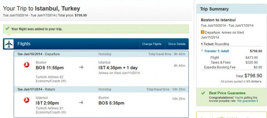 $800 to Istanbul for June travel? Good deal!