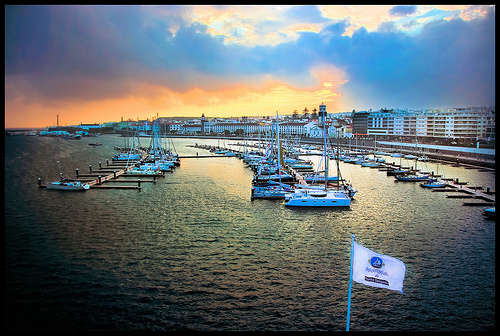 Marina de Ponta Delgada, The Azores, Portugal. Photo: Ray Devlin, used under Creative Commons License (By 2.0)