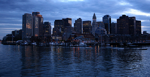 Boston at Sunsett Photo: lgh75, used under Creative Commons License (By 2.0)