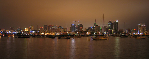San Diego at Night. Photo: robsettantasei, used under Creative Commons License (By 2.0)
