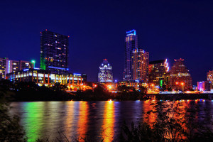 Austin, Texas at Night from Auditorium Shores - Photo: Robert Hensley, used under Creative Commons License (By 2.0)