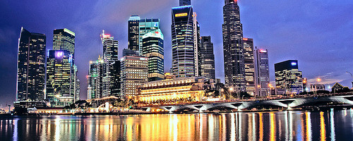 Singapore at Night Photo: jjcb, used under Creative Commons License (By 2.0)