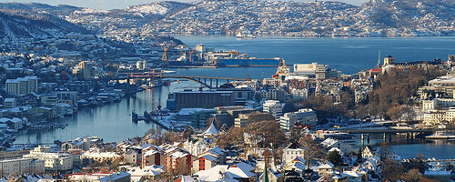 Skyline, Bergen, Norway. Photo: Trodel, used under Creative Commons License (By 2.0)
