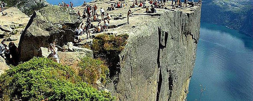 Preikestolen, close to Stavanger, Norway. Photo: Jedimental44, used under Creative Commons License (By 2.0)