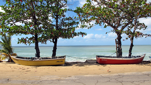 Beach near Schoolyards, Aguadilla, Puerto Rico Photo: mollystevens, used under Creative Commons License (By 2.0)