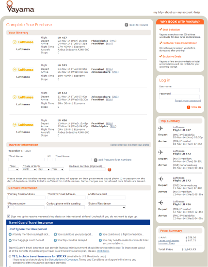 The Flight Deal | Lufthansa – $1,044: Philadelphia – Johannesburg, South Africa. Roundtrip ...