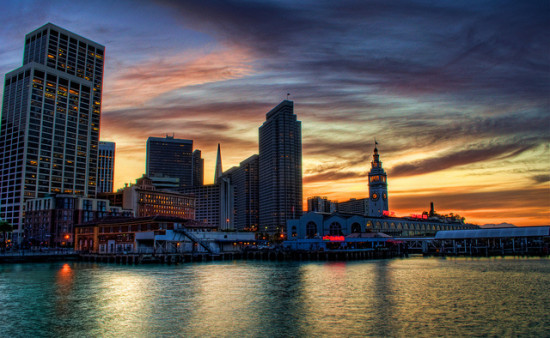 Ferry Terminal at Sunset, San Francisco, California - Photo: Billy Gast, used under Creative Commons License (By 2.0)