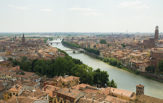 Verona, Italy - Photo: Melissa P., used under Creative Commons License (By 2.0)