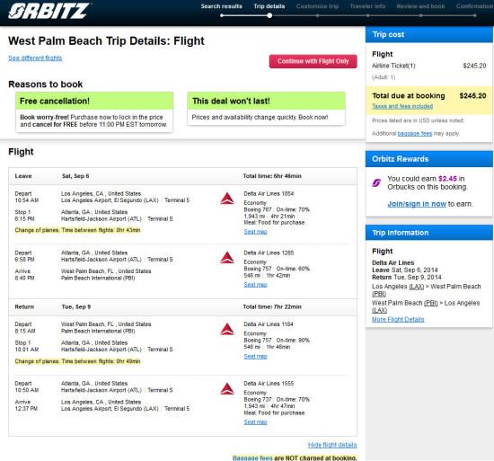 The Flight Deal Delta 245 Los Angeles West Palm