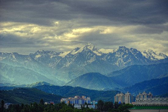 Sunrise in Almaty, Kazakhstan - Photo: Irene2005 via Flickr, used under Creative Commons License (By 2.0)