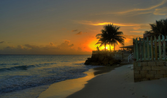 Sunset in Barbados Photo: Berlt Watkin via Flickr, used under Creative Commons License (By 2.0)