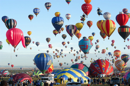 Annual International Balloon Festival, Albuquerque, New Mexico - Photo: a4gpa via Flickr, used under Creative Commons License (By 2.0)