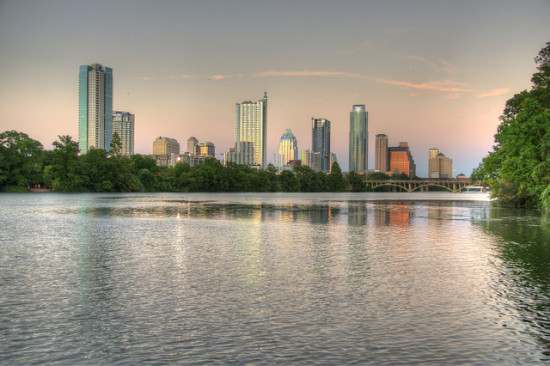 Lady Bird Lake, Austin, Texas. Photo: JustinJensen via Flickr, used under Creative Commons License (By 2.0)